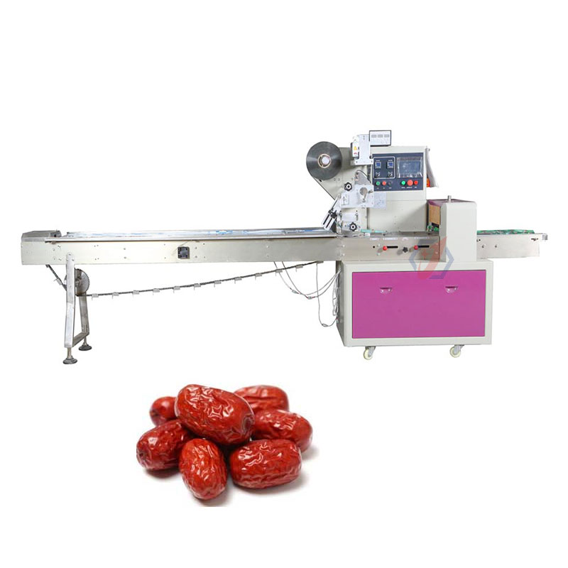 Full Automatic Pillow Bag Jujube Garlic Cloves Chocolate Walnut Packaging Machinery