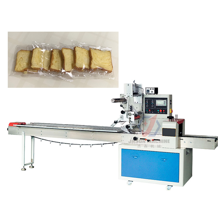 Full Servo Horizontal Automatic Pouch Bread Packing Machine Food Pillow Packaging Machine